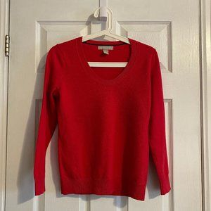Banana Republic Petite Red Thin Sweater